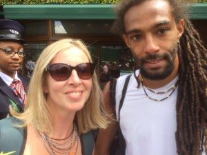 Gilly with Dustin Brown