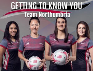 Team Northumbria netball team Tuaine Keenan