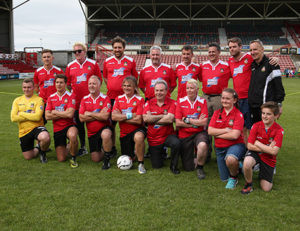 Net World Sports Mike Peters The Alarm By Your Side Charity Walk plus Wrexham AFC 2017-18 kit launch
