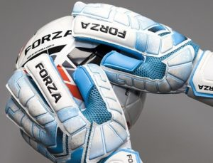 FORZA goalkeeper gloves catching football