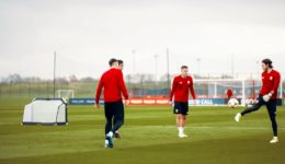 Wales Train At Carrington With FORZA Goals